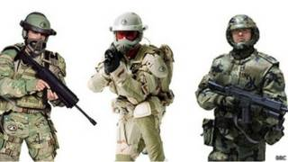 Прототипы боевых костюмов