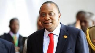 Rais Kenyatta akiwa katika mahakama ya ICC.