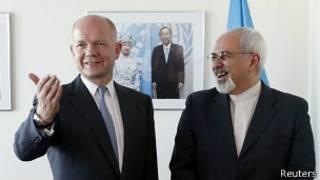 ظریف و هیگ وزیران خارجه ایران و بریتانیا