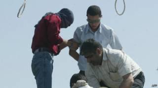 صورة ارشيفية لعملية اعدام في ايران