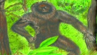 Desenho de criatura Yeti que teria sido vista na Índia décadas atrás