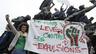 फ्रान्समा विरोध प्रदर्शन