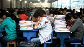 Estudantes chineses (crédito: AFP)