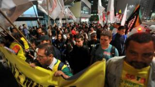 تظاهرات کارگران نفتی برزیلی