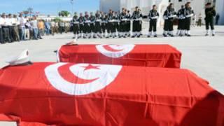 Majeneza ya askari wa Tunisia waliouwawa Alkhamisi