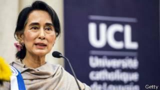 Líder birmana Aung San Suu Kyi, en Londres