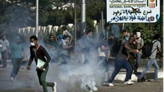 لقطات ارشيفية لاحتجاجات في جامعة الأزهر