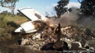 Сбитый в Венесуэле самолет