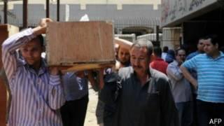 جنازة أحد قتلى سيارة الترحيلات في مصر