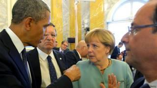 एंजेला मर्केल, चांसलर, जर्मनी, बराक ओबामा, राष्ट्रपति, अमरीका