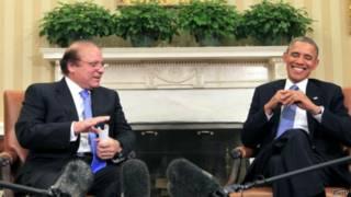 Nawaz Sharif & Barack Obama.