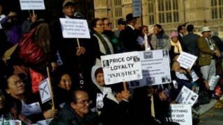 भूपू गोर्खा सैनिक तथा परिवार विरोध प्रदर्शनमा