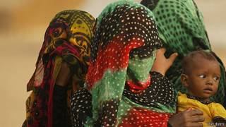Mujeres cubiertas en Yemen