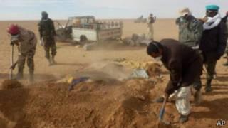 87 جثة عثر عليها في الصحراء الكبرى