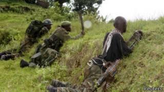 Wanajeshi wa serikali ya DRC katika vita dhidi ya M23