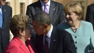 Rousseff, Obama e Merkel