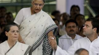 सोनिया गांधी, राहुल गांधी, शीला दीक्षित