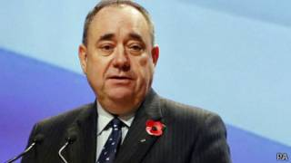 萨蒙德在珀斯出席苏格兰民族党党大会(17/10/2013)