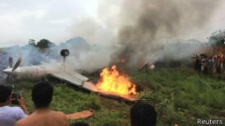 Accidente aéreo en Bolivia