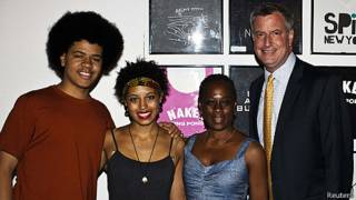 Bill de Blasio e sua família (Reuters)
