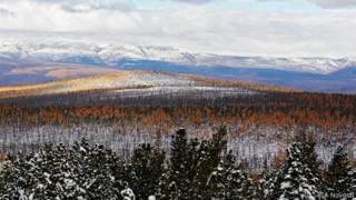 долина реки в Якутии
