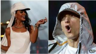 Eminen and Rihanna
