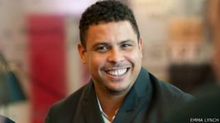 Ronaldo Nazário no prédio da BBC, em Londres. Foto: Emma Lynch/BBC
