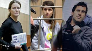 """Задержанные в России активисты """"Гринпис"""" из Латинской Америки"""