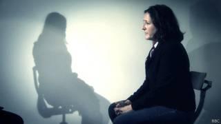 Frances Harrison with Sri Lankan Tamil torture victim