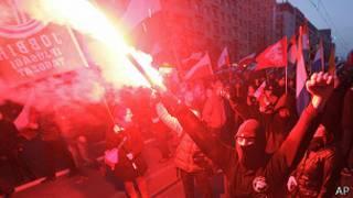 Disturbios en Varsovia