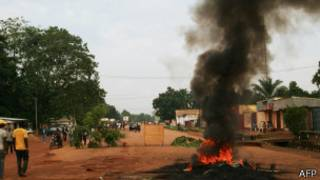 Une scène de pillage à Bangui (archives)
