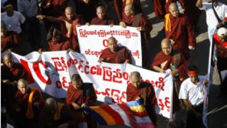 Anti OIC protests in Burma