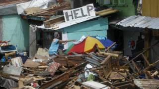 Разрушения в Таклобане