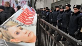 Активисты и полицейские перед Веховной Радой Украины