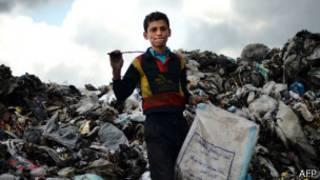 طفل في مدينة حلب السورية