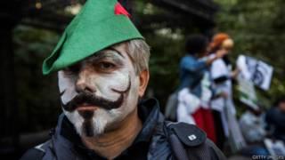 Occupy Wall Street fez aniversário de dois anos em setembro. Foto: Getty Images