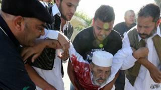 Демонстрация против ополченцев в Триполи