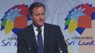 David Cameron kwenye mkutano wa Commonwealth, Sri Lanka