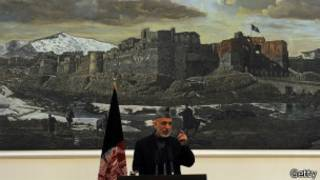 الرئيس الأفغاني، حامد كرزاي