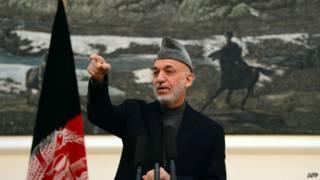 Президент Карзай в Кабуле