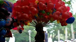 Balões de gás hélio | AFP