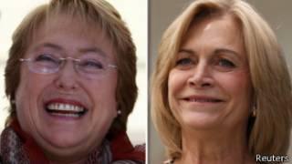 Основные кандидаты на пост президента Чили: Мишель Бачелет и Эвелин Маттеи
