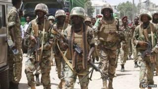 جنود الاتحاد الأفريقي في الصومال