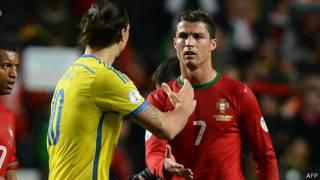 Ibrahimovich y Ronaldo