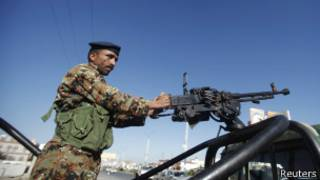 قوات أمن يمنية