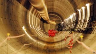 первый туннель Crossrail в Лондоне
