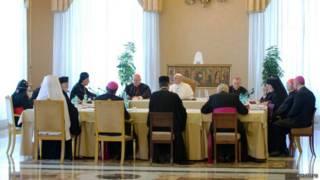 Встреча папы римского с главами церкви