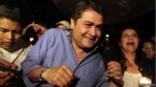 Juan Orlando Hernández, candidato presidencial en Honduras