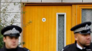 Полиция у дома, где женщины содержались в рабстве