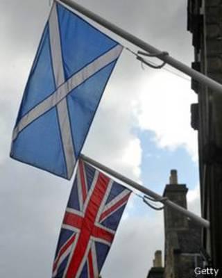 Флаги Соединенного Королевства и Шотландии